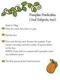 Fall Subjects and Predicates game - Complete and Simple S/P
