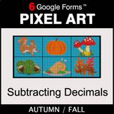 Fall: Subtracting Decimals - Pixel Art Math   Google Forms