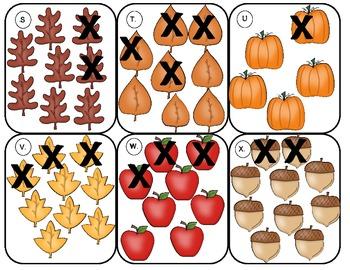 Fall Subtraction Activities