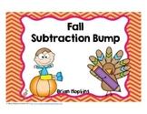 Fall Subtraction Bump Fluency Games