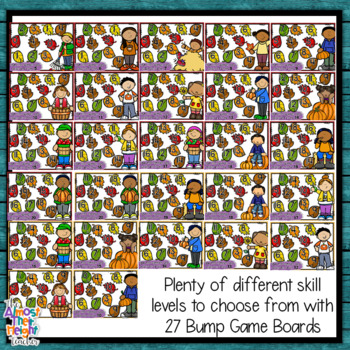 Subtraction Bump Games ~ Fall/Autumn subtracting numbers 1-10