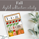 Fall Subtraction Digital Activity