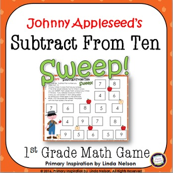 Autumn Subtraction Game Johnny Appleseed