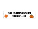 Fall Subtraction Shake Up
