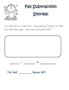 Fall Subtraction Stories!