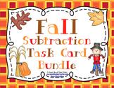Fall Subtraction Task Card Bundle