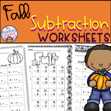 Fall Subtraction Worksheets