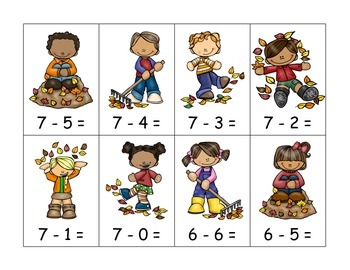 Fall Subtraction with Number Line
