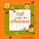 Fall Sudoku d'Automne