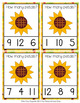 Fall Sunflower Petals Count and Clip Cards Numbers 1-12