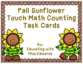 Fall Sunflower Touch Math Counting Task Cards