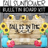 Fall Bulletin Board or Door Kit - Sunflower Theme