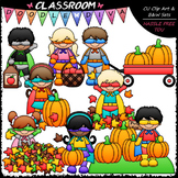 Fall Superhero Kids - Clip Art & B&W Set