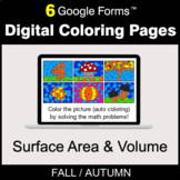 Fall: Surface Area and Volume - Digital Coloring Pages | G