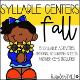 Fall Syllable Centers