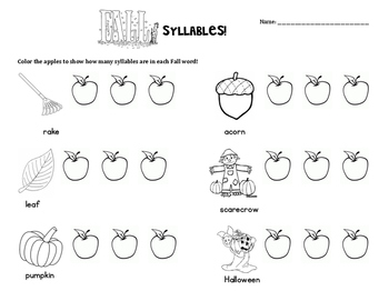 Fall Syllable Counting