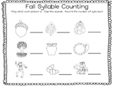 Fall Syllable Counting and Roll Count Graph
