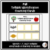 Fall Syllable Identification Counting Cards and Manipulatives