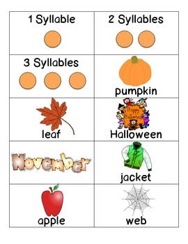 Fall Syllable Sort
