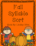Fall Syllable Sort