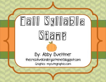 Fall Syllable Stamp