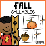 Fall Syllables Clip Cards