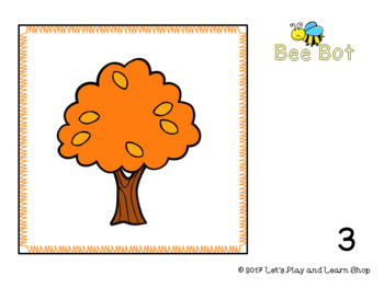 Fall Symbols Bee Bot Mat and Flash Cards