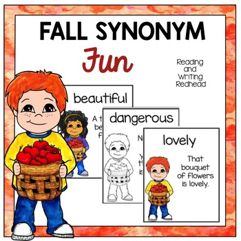 Fall Synonym Fun  Card Game - Go Fish or Concentration for Grades 1-3