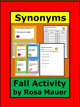 synonyms Fall Theme