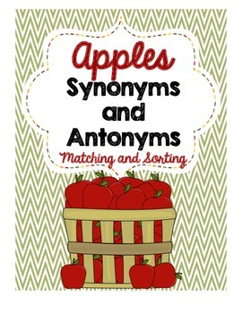 Apples Synonyms and Antonyms