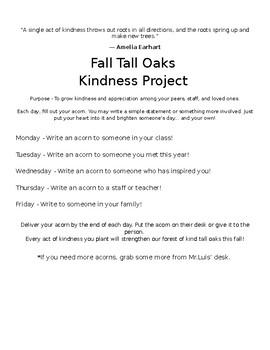 Fall Tall Oaks Kindness Project