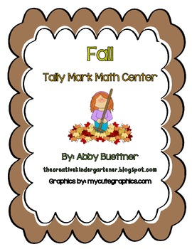 Fall Tally Mark Count Math Center