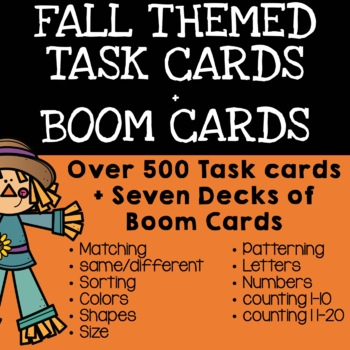 Fall Task Box Bundle - THREE MONTHS OF ACTIVITIES