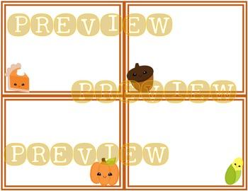 Fall Task Card Template