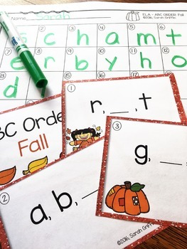 Fall Task Cards - Bundle - Math and ELA