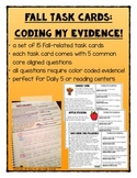 Fall Task Cards - Color Coded Evidence