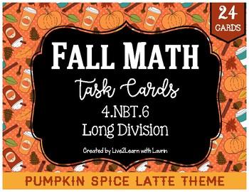 Fall Math Task Cards: Long Division
