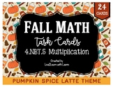 Fall Math Task Cards: Multidigit Multiplication