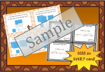 Rounding Decimals Task Cards: Fall Theme