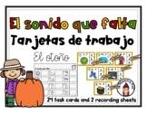Fall Task Cards in Spanish- Tarjetas de trabajo- El otoño-