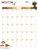 Fall Tea Party Monthly & 1 Page per Week Planner