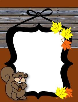 Fall Teaching Materials Binder Cover