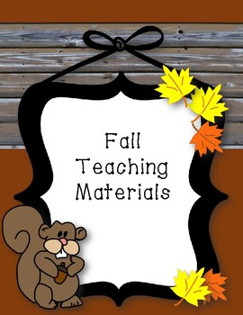 Fall Teaching Materials Binder Cover