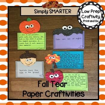 Fall Tear Paper Writing Craftivities