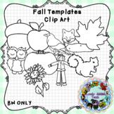 Fall Template Clip Art