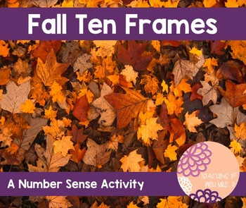 Fall Ten Frame Activity