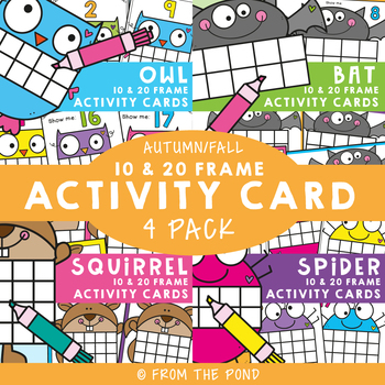 Fall Ten Frame Activity Cards