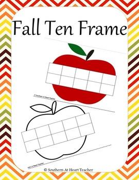 Fall Ten Frame- (Apples)