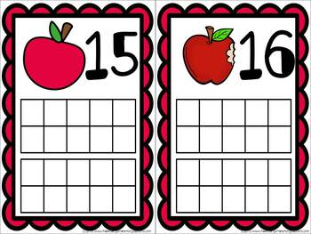 Fall Ten Frame Cards!  A Numbers And Counting Resource!