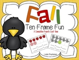 Fall Ten Frame Fun - A Commutative Property Scoot Game